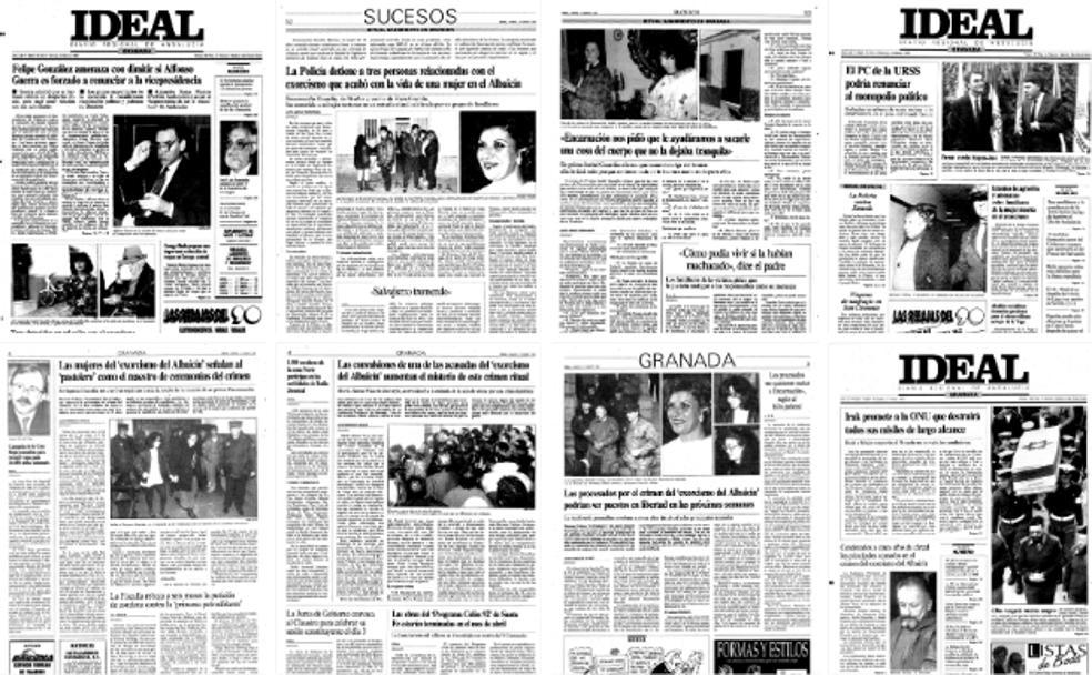 Portadas de la prensa española con información del exorcismo del Albaicín. El hecho fue recogido por los principales diarios del país.
