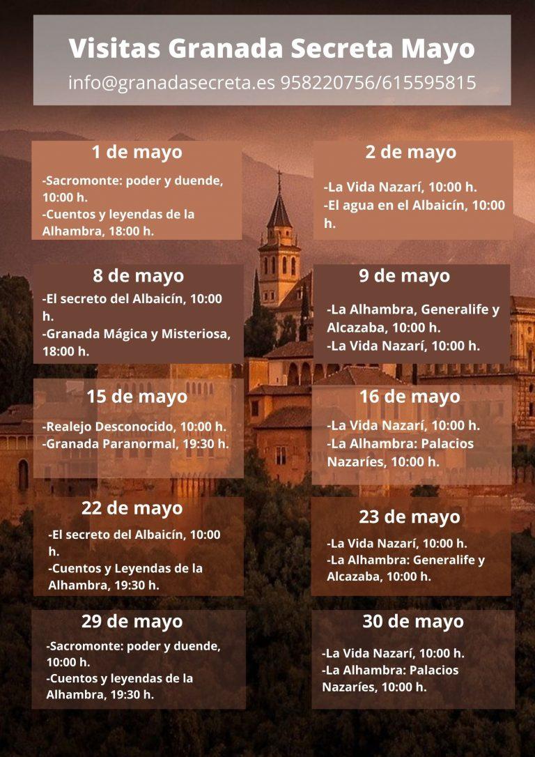 Visitas Mayo Granada Secreta